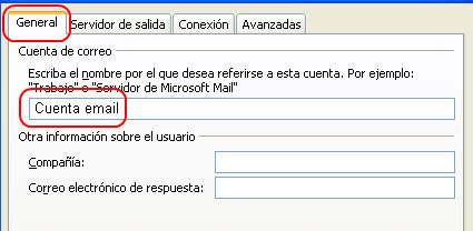 Configurar email en Outlook