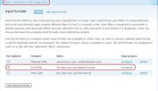 Configurar Full HTML como formato por defecto